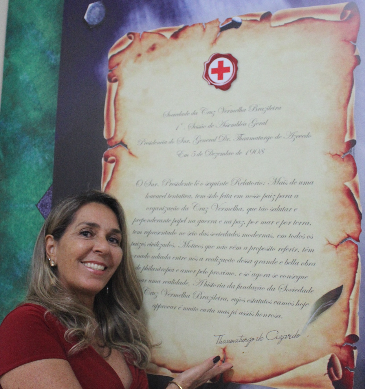 Cruz Vermelha Brasileira homenageia bisneta de seu fundador (2)