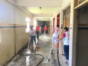 Lavagem do prédio CVBAM