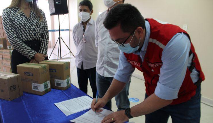 Cruz Vermelha Brasileira e Sesc Amapá assinam acordo de cooperação técnica (1)