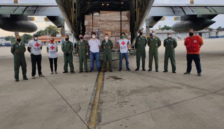 Cruz Vermelha Brasileira envia mais de 13 toneladas de donativos para Macapá no combate à COVID-19 1 (1)