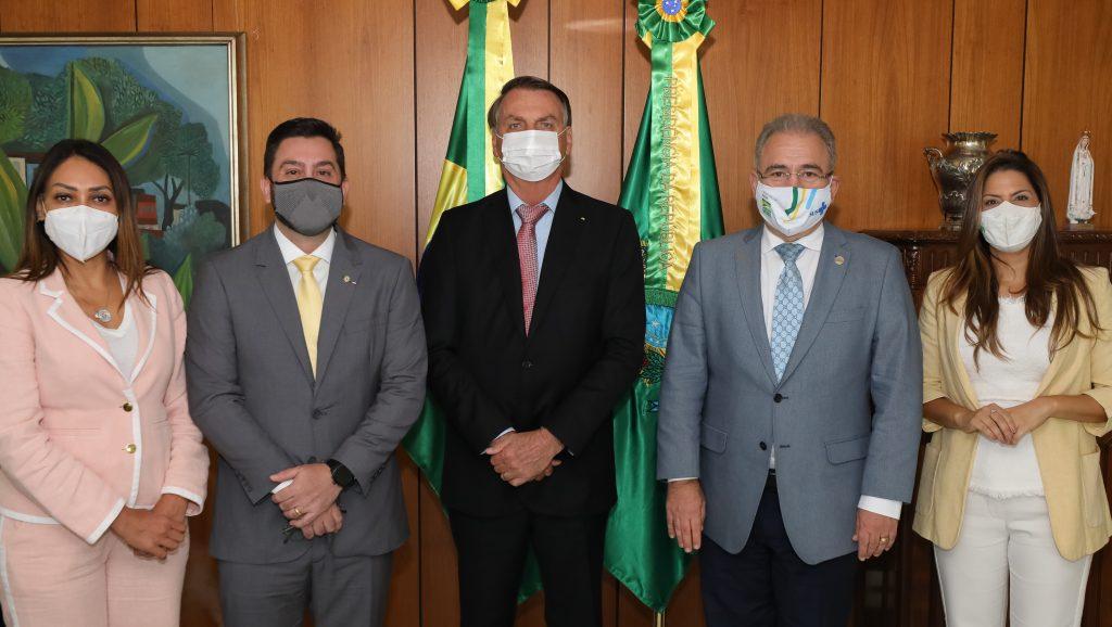 (Brasília - DF, 19/05/2021) Encontro com equipe da Cruz Vermelha. Foto: Marcos Corrêa/PR